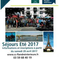 CCFI - Séjours Eté 2017