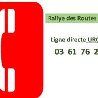 Rallye des Routes du Nord : ligne directe urgence