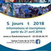 CCFI : Séjours été 2018
