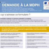 Nouveau formulaire de demande à la MDPH