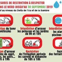 Eau - Alerte sécheresse : le préfet prolonge les restrictions de consommations en eau jusqu'au 30 septembre 2019