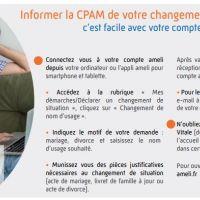 CPAM : changement de nom d'usage