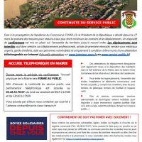 INFORMATION MUNICIPALE - CRISE SANITAIRE COVID-19