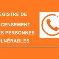 - REGISTRE COMMUNAL DES PERSONNES VULNÉRABLES -