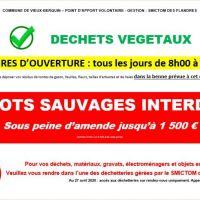 - RÉOUVERTURE DE L'AIRE D'APPORT VOLONTAIRE DES DECHETS VEGETAUX –