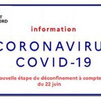 COVID-19 - Une nouvelle étape du déconfinement