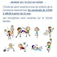 Reprise de l'école du Sport !