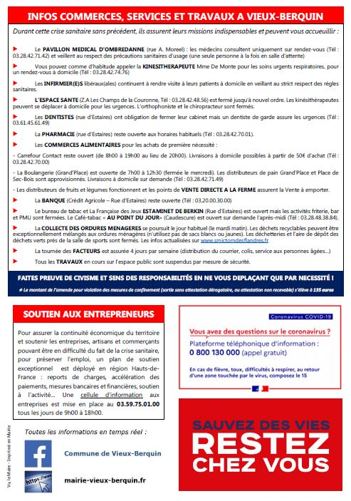 Feuillet Infos page 2