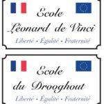 Panneau écoles Léonard de Vinci et Drooghout